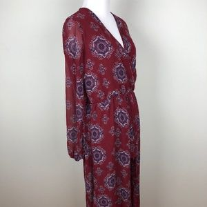 RUE 21 Womens Maxi Romper Dress Size Small Maroon